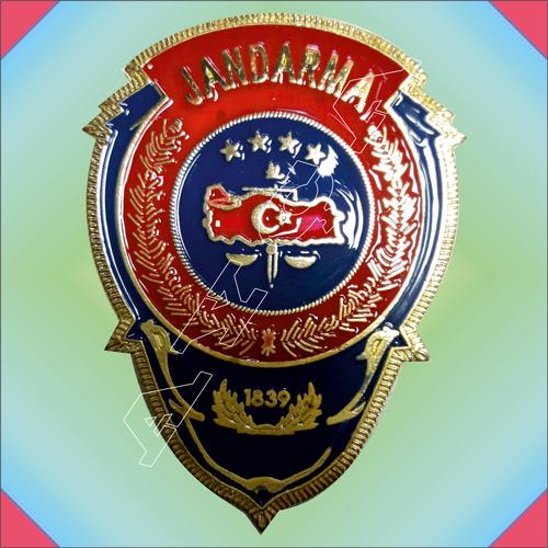 Jandarma Yeni Amblem Dokum Cuzdan Rozeti Cuzdansiz Hediyelik Mu