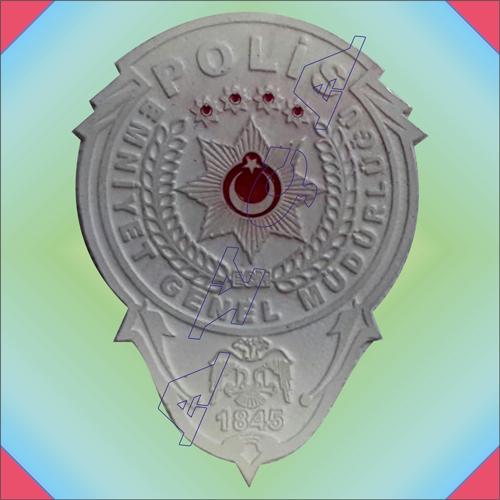 Polis Yeni Amblem Gumus Dokum Cuzdan Rozeti Cuzdansiz Polis Malze